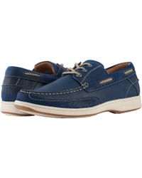 Florsheim - Lakeside Moc Toe Oxford (indigo Smooth/suede) Men's Slip On Shoes - Lyst
