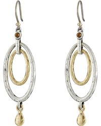 Lucky Brand - Mary Jane Oval Orbital Earrings (two Tone) Earring - Lyst