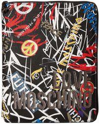 Love Moschino - Graffiti Print Ipad Case (black Digital Print) Wallet - Lyst
