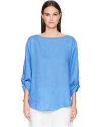 Eileen Fisher - Organic Linen Tie-sleeve Top - Lyst