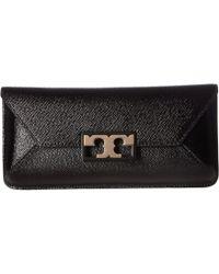ffb3790f992 Tory Burch - Gigi Patent Clutch (black) Clutch Handbags - Lyst