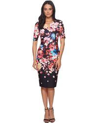 Adrianna Papell - Spring In Bloom Printed Sheath (black Multi) Women's Dress - Lyst