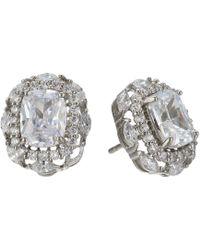 Nina - Dries Earrings (palladium/white Cz) Earring - Lyst