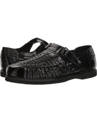 72311d0479d5 Deer Stags - Bamboo2 Huarache (black Leather) Men s Slip-on Dress Shoes -