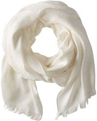 Calvin Klein - Ck Logo 2 In 1 Pashmina Wrap Scarf (eggshell) Scarves - Lyst