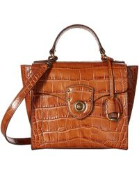 Lauren by Ralph Lauren - Millbrook Top Handle Crossbody Satchel (black) Handbags - Lyst