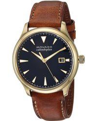 Movado - Heritage - 3650028 (navy/dark Brown) Watches - Lyst