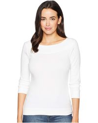 Lilla P - 3/4 Sleeve Boat Neck (black) Women's Clothing - Lyst
