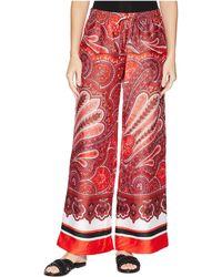 Lauren by Ralph Lauren - Silky Twill Printed Wide Leg Pants - Lyst