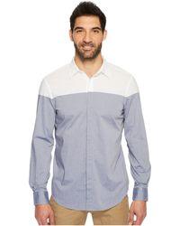 Perry Ellis | Long Sleeve Color Block Shirt | Lyst