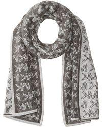 MICHAEL Michael Kors - Grid Logo Muffler (derby/pearl/silver) Scarves - Lyst