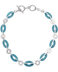 Lauren by Ralph Lauren - Turquoise Link Collar Necklace - Lyst