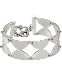 Lucky Brand - Half Disk Link Bracelet (silver) Bracelet - Lyst