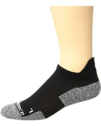 New Balance - Cushioned Running No Show Tab Sock 1-pair Pack (black/grey) No Show Socks Shoes - Lyst