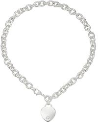 Guess - Heart Charm Necklace - Lyst