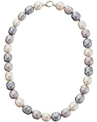Majorica - 14mm Baroque Ss Necklace (silver/multi) Necklace - Lyst