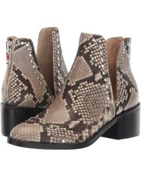 ff43a137351 Steve Madden - Conspire Bootie (natural Snake) Women s Slip On Shoes - Lyst