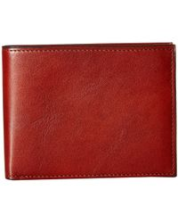 Bosca - Old Leather Collection - Executive Id Wallet (dark Brown Leather) Bi-fold Wallet - Lyst