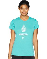 Brooks - Usa Games Event Short Sleeve (heather Royal) Women's Clothing - Lyst