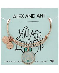 ALEX AND ANI - Words Are Powerful - You Are Enough Bangle - Lyst