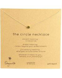 Dogeared - Circle Necklace (gold-dipped) Necklace - Lyst