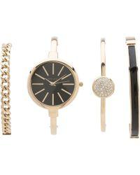 Anne Klein - Ak-1470gbst (gold/black) Watches - Lyst