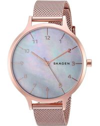 Skagen - Anita Mother-of-pearl - Skw2633 (rose Gold) Watches - Lyst