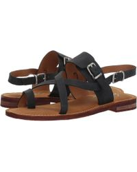 Patricia Nash - Fidella (black Crazy Horse Leather) Women's Sandals - Lyst