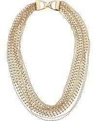 Lauren by Ralph Lauren - 17 Multi Row Beaded Collar Necklace (gold) Necklace - Lyst