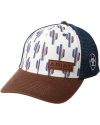 e5506ec192164 Ariat - Multi Cactus Snapback Cap (white blue) Caps - Lyst