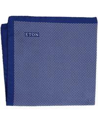 Eton of Sweden - Signature Dot Pocket Square (navy/white) Ties - Lyst