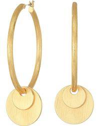 Rebecca Minkoff - Medallion Hoop Earrings - Lyst