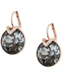 Swarovski - Large Bella Pierced Earrings (brown) Earring - Lyst