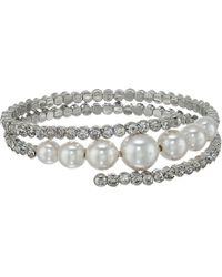 Nina - Konya Bracelet (rhodium/ivory Pearl/white) Bracelet - Lyst