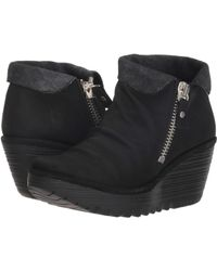 Fly London - Yoxi755fly (black/anthracite Cupido/griffon) Women's Boots - Lyst
