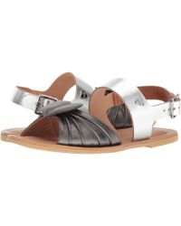 Love Moschino - Leather Sandals W/ Tone On Tone Accessories - Lyst