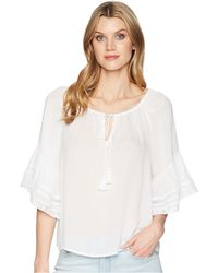 Lucky Brand - Bell Sleeve Peasant Top (lucky White) Women's Clothing - Lyst