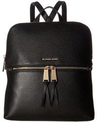 MICHAEL Michael Kors - Rhea Zip Medium Slim Backpack (maroon) Backpack Bags - Lyst
