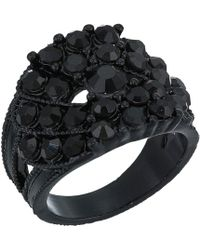 c37169fa68dc57 Lyst - Swarovski Jet Nirvana Ring in Black