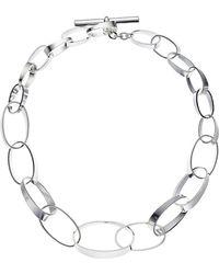 """Lauren by Ralph Lauren - Modern Metal 18"""" Graduated Link Collar Necklace - Lyst"""