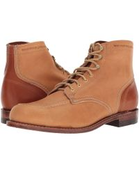 9d0013fbc50 Lyst - Wolverine 1000 Mile Men Round Toe Leather Tan Work Boot in ...