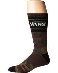 Vans - Tribe Crew (classic Camo) Men's Crew Cut Socks Shoes - Lyst