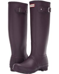 HUNTER - Original Tall Rain Boots (black Grape) Women's Rain Boots - Lyst