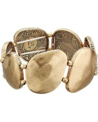 The Sak - Large Metal Stretch Bracelet (gold) Bracelet - Lyst