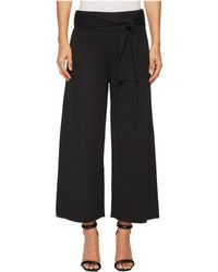 Catherine Malandrino | Knit Tie Front Wide Culotte Pants | Lyst