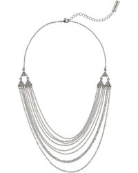 Steve Madden - Rolo Layered Casted Lobster Necklace (silver) Necklace - Lyst