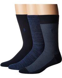 Polo Ralph Lauren - Supersoft Birdseye 3-pack (chocolate) Men's Crew Cut Socks Shoes - Lyst