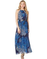 e82f09a143a MICHAEL Michael Kors - Engineered Tahitian Reef Dress (true Navy grecian  Blue) Women s