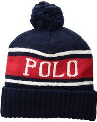 1fe855b4080 Polo Ralph Lauren - Polo Usa Stadium Hats (navy Multi) Beanies - Lyst
