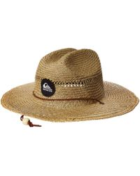Quiksilver - Pierside Slimbot Straw Lifeguard Hat (natural) Caps - Lyst